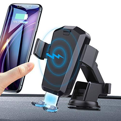 Automatisch Wireless Charger Auto Handyhalter QI 10W Schnellladung Kabelloses Auto Ladegerät mit Handyhalterung für iPhone X Samsung