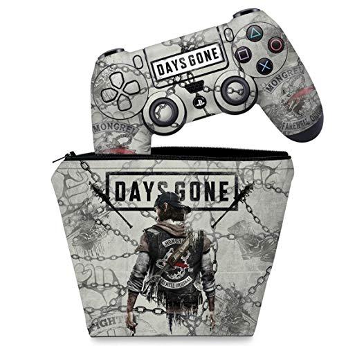 Capa Case e Skin Adesivo PS4 Controle - Days Gone