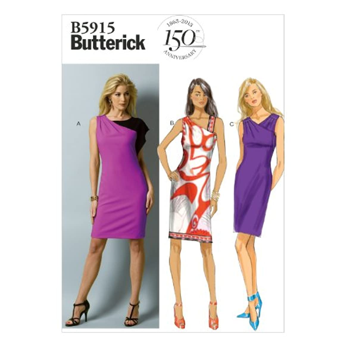BUTTERICK PATTERNS B5915 Misses' Dress Sewing Template, Size E5 (14-16-18-20-22)