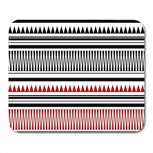 Mauspads Tattoo Rot und Schwarz Maori Polynesian Armbänder Tatto Pattern Mauspad für Notebooks, Desktop-Computer Matten Büromaterial