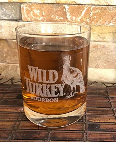 WILD TURKEY Collectible Whiskey Glass 14 Oz