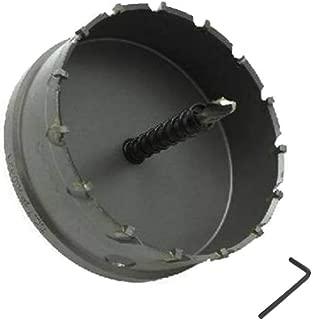 ShopXJ 超硬 ステンレス ホールソー 保管用ケース付き 穴あけ 電動ドリル ホルソー ホールカッター (105mm)