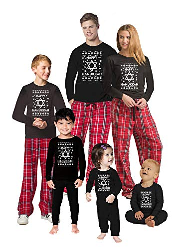 Awkward Styles Family Christmas Pajamas Set Red Hanukkah Matching Sleepwear Toddler PJ Set 4T
