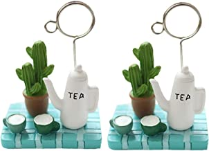 KESYOO 2pcs Mini Teapot Note Clamp Bonsai Photo Clips Fashion Picture Clips Home Desktop Decor Party Desktop Ornaments