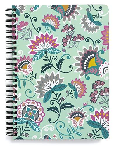 vera bradley kindles Vera Bradley Mini Notebook with Pocket Mint Flowers One Size