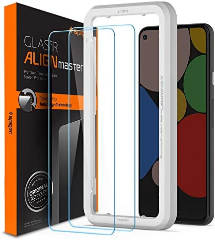 Spigen Tempered Glass Screen Protector Glas tR AlignMaster designed for Pixel 5 2020 2 Pack product image