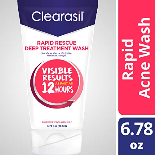 Clearasil Rapid Rescue, Deep Treatment Wash 6.78 oz (Pack of...