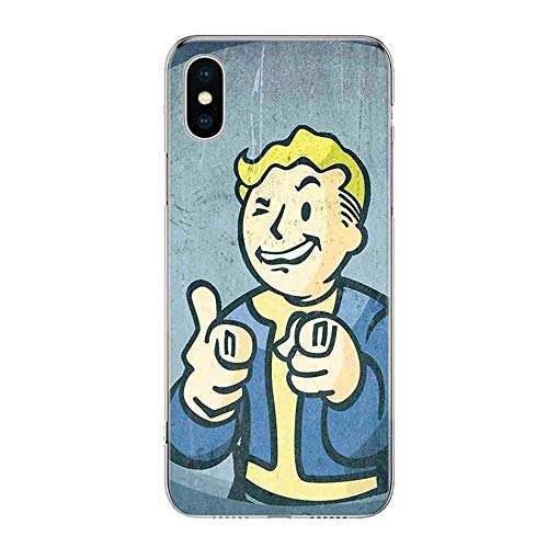 Kushinarutop Fallout New Vegas iPhone Case Transparent Clear Soft TPU Gel Phone Cover TW119-4 for iPhone 6/iPhone 6S