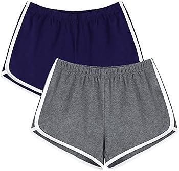 2-Pack Uratot Yoga Summer Running Athletic Shorts