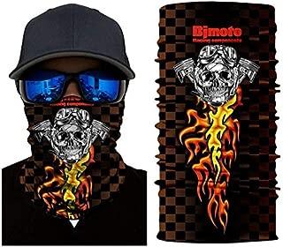 Bjmotoサイクリングランニングマスクバイクフェイスシールド防塵マスクトレーニングウォーマーマスク頭蓋骨バラクラバスキーフェイスマスクゴーストスカーフネック:モデル14