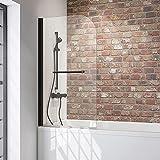 Schulte 80 x 140 cm Mampara ducha para bañera, 1 hoja...