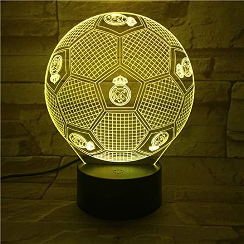 Dekorative Tischlampe Real Madrid 3D Visuelle Lampe Bunte allmähliche dekorative geführte Atmosphäre 466