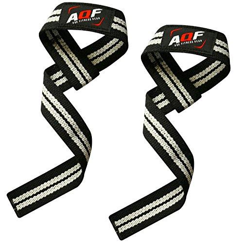 AQF Le fasce per sollevamento supporteranno il tuo polso, rafforzeranno la tua presa, ti consentiranno di alzare pesi più pesanti e potrai eseguire più ripetizioni. Ideale per stacchi da terra, sollevamento pesi, flessioni, chin-up con pesi e vari al...