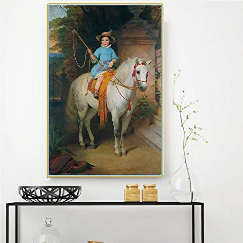 Wehoiweh Friedrich Von Amerling ince Prinz Johann Ii Von Liechtenstein》 Leinwand Ölgemälde Kunstwerk Bild Wanddekoration Wohnkultur (80x120cm) 32