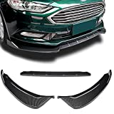 Stay Tuned Performance PU/696/PCF Carbon Fiber Print Front Bumper Body Kit Lip 3PCS Compaitble with 2017-2018 Fusion/Mondeo