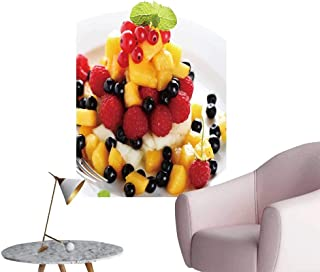 SeptSonne Wall Decoration Wall Stickers sala Fruit Berries on White plaate Print Artwork,24