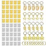 80 Pcs Dreadlocks Accessoires Bijoux de Tresse de Cheveux Pe