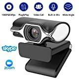 HD Pro Webcam - Full HD 1080p Video Calling and Recording, Dual Stereo Audio, Stream Gaming, Built-in Noise canceling Microphone, Plug and Play, Zoom Skype