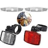 Widream Fahrrad Reflektor Set, Vorne Reflektoren, Fahrrad Reflektor Hinten, mit 2 pcs Speichenstrahler, für Mountainbike Rennrad Erwachsene Kinder