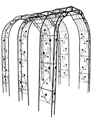 QHW Arcos de Hierro de jardín, árboles de Plantas trepadoras de pérgola, Arcos de Entrada de césped de Patio al Aire Libre de Estilo Europeo, decoración de Malla de Arco de Boda 189x39x250cm