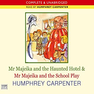 Mr Majeika and the Haunted Hotel & Mr Majeika and the School Play cover art