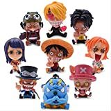 Therfk 9 Unids / Set Anime One Piece 10Cm, Gk Luffy Snake Man Zoro...