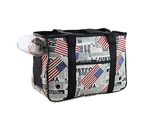 [USA Flag] Pet Fashion transporteurs sac fourre-tout pour chiens et chats