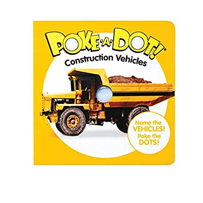 Melissa & Doug Children's Book – Poke-a-Dot: Construction Vehicles (Board Book with Buttons to Pop)