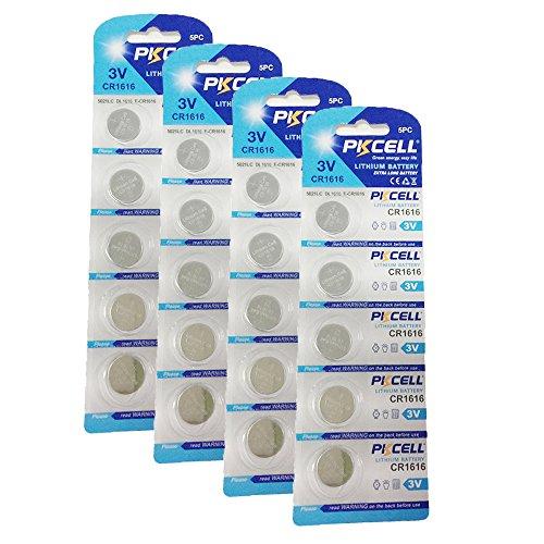 CR1616 DL1616 BR1616 ECR1616 5021LC L11 L28 3V a bottone al litio ricaricabile 20 Pezzi