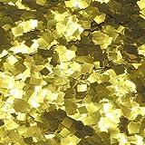 Ultimate Confetti Gold Glitter Confetti-1/4' Square Premium Metallic Confetti-Perfect for Decorations-Table Decor-Parties-Weddings-NYE Parties