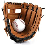 Guante de béisbol Guantes de béisbol Outfield Thicken Pitcher Softball Guantes 10.5' Niño Junior Adult Baseball Equipment S