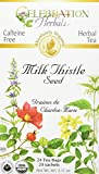 Celebration Herbals Organic Milk Thistle Seed Herbal Tea -- 24 Tea Bags, NET WT.60, 2.11 OZ
