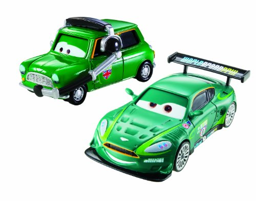 Cars 2 -Pack de 2 Coches, Nigel Gearsley y Ausin Littleton (Y0507)