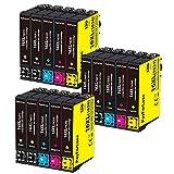 PayForLess 16XL 16 XL Cartucce d'inchiostro Compatibili per Epson Workforce WF-2630 WF-2510 WF-2760 WF-2530 WF-2520 WF-2540 WF-2750 WF-2660 WF-2650 WF-2010 (6Nero, 3Ciano, 3Magenta, 3Giallo)