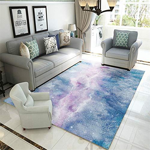 La alfombras Alfombra Bebe Antideslizante Alfombra de diseño de Tinta Gris Azul...