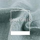 Tela de lino, tela de lino lisa, tela de lino natural para bordado, tela de punto de cruz de lino para ropa, manualidades, tapicería, decoración de macetas y mantel, verde claro, 2pcs 130x100cm