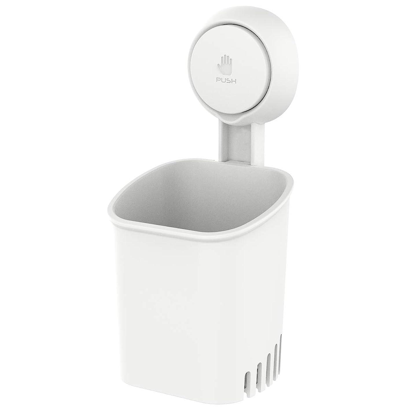 ビスケットアナニバー違反するTAILI 歯ブラシスタンド 強力吸盤フック 耐荷重5KG 道具不要 壁傷つけない 優れた防水性と防油性 お風呂とキッチン用 繰り返し使用可能 ホワイト