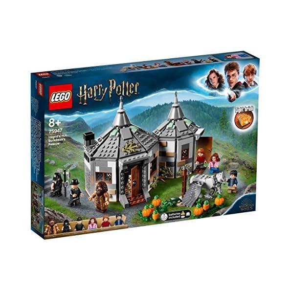 LEGO-Harry-Potter-La-Capanna-di-Hagrid-Il-Salvataggio-di-Fierobecco-Set-di-Costruzioni-Ricco-di-Dettagli-con-6-Minifigure-per-Ragazzi-8-Anni-e-Appassionati-della-Saga-75947