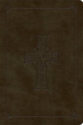 ESV Large Print Bible (Trutone, Olive, Celtic Cross Design)