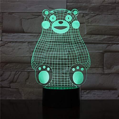 USB 3D LED Night Light Japan Kumamon Figure Multicolor chang