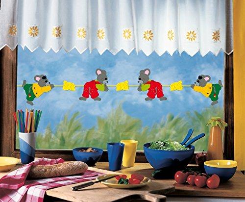 Girlande MÄUSE/bis 200 cm lang/beidseitig Bedruckt/aus Papier, Pappe für Kinder