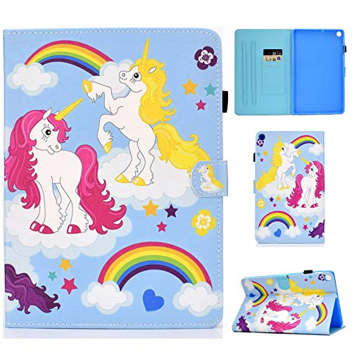 Jajacase Galaxy S6 Lite 10.4 2020 Case,SM-P610/P615 Tablet Case,PU Leather Multi-Angle Viewing Folio Stand Cover Case for Samsung Galaxy TAB S6 Lite 10.4 2020 SM-P610/P615-Colorful Unicorn