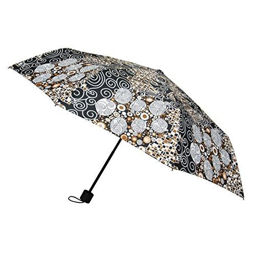 Signare Moda pieghevole ombrello manico dritto per le donne Gustav Klimt (Bacio)
