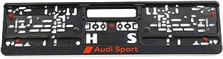Audi Sport GmbH 3291900100 Kennzeichenhalter Original Sport Kennzeichen Halterung, schwarz/rot