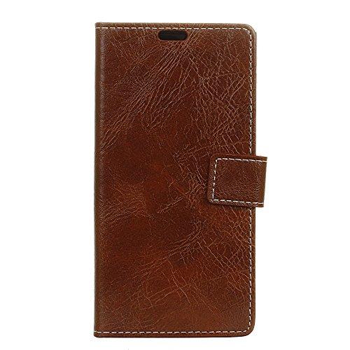 fancartuk Kompatibel mit BlackBerry Aurora Hülle Leder, PU Brieftasche etui Schutzhülle Tasche Slim Flip Case Cover mit Magnetverschluss für BlackBerry Aurora (Braun)