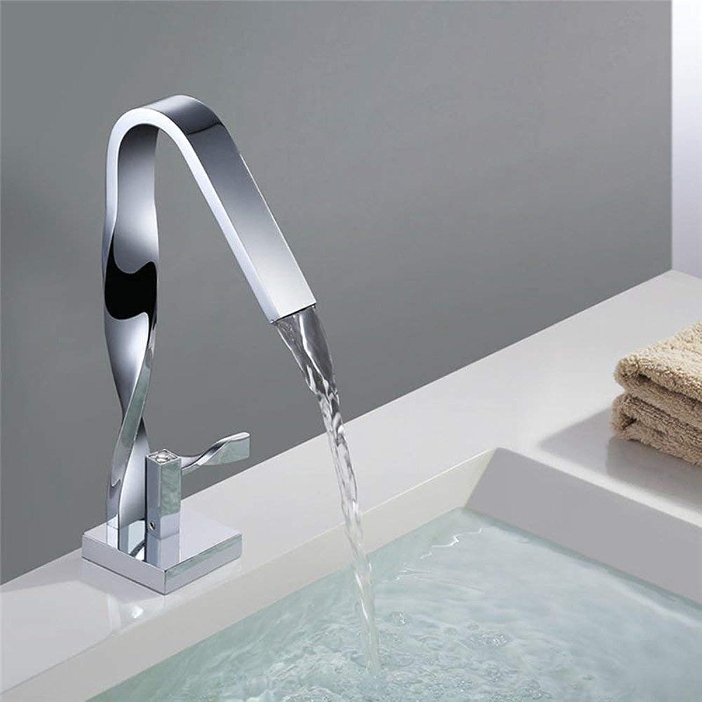MWPO Badzubehr, einfach zu bedienen und benutzerfreundlich Waschtischmischer Chrom Sitz Einhand-Warm- und Kaltwasserhahn