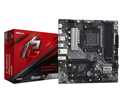ASRock B550M Phantom Gaming 4 AM4 MATX SND + GLN + U3.2 + M2 SATA 6GB/S DDR4