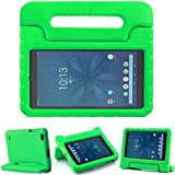 TIRIN Walmart Onn 8 Inch Tablet Case, Light Weight Shockproof Handle Friendly Convertible Stand Kids Case for Walmart Onn 8 inch Android Tablet 2019 Release Model ONA19TB002 - Green