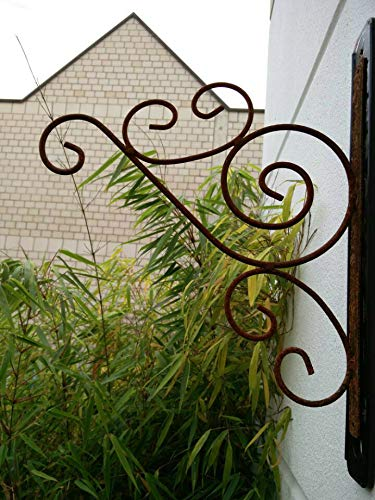 Zen Man Rost Laternenhaken Garten Wandhaken Blumenampelhalter Blumenampelhaken Lampenhaken Blumenampel Aufhänger L35*30cm