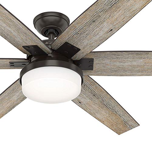 Hunter Fan 64 inch Casual Nobel Bronze Indoor Ceiling Fan...